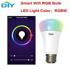 Rifa Light Bulb Esp8266 Smart Home Wifi Rgb Led Light Lamp Wireless E27