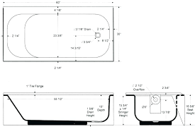standard average bathtub size shower height sizes in idea tub throughout bath heig