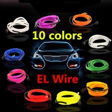 EL Wire Neon <b>Light Novelty Light</b> Neon <b>LED lamp</b> Flexible Rope ...