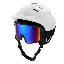 <b>Snow Ski Helmet</b> and Goggles Set, <b>Unisex</b> Adults Snowboard ...