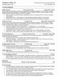 Resume Coach Fascinating College Coaching Resume Samples Greatest College Coach Resume Do 60