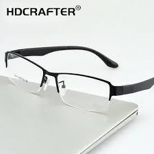 <b>HDCRAFTER Men</b> Metal Business Myopia Glasses Frame <b>Fashion</b> ...