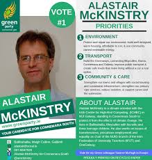 Green Party Flyer Leaflet From Alastair Mckinstry Green Party Connemara