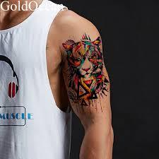 580 руб вспышка геометрический тигр мужские татуировки на руку наклейки для