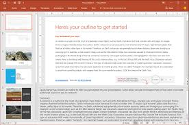 How To Do A Presentation Outline Research A Topic With Powerpoint Quickstarter Office Support