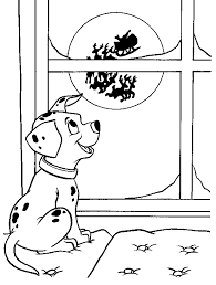 Small Picture Dalmatian And Santa Clause Coloring Page Animal pages of