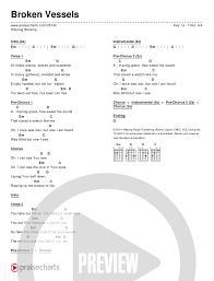 Hillsong Worship Broken Vessels Chord Chart In G P 1 In