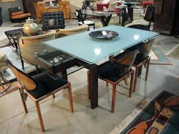 outdoor fascinating frosted glass dining table 9 furniture seams to fit home and 6 chairs triangle