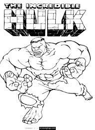 awesome marvel superhero the incredible hulk coloring page printable for kids for your student