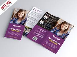 Brochure Trifold Template Free Free Psd University College Trifold Brochure Psd Template
