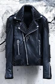 leather jacket studs custom quilting biker black stud zara