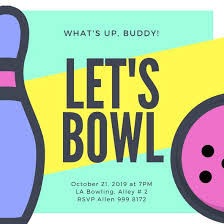 Bowling Invitation Interesting Customize 44 Bowling Invitation Templates Online Canva