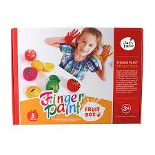 finger paint colorful fruit box washable non toxic 5 colors
