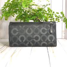 Coach Bags - Coach Madison Op Art Large Checkbook Wallet 43261