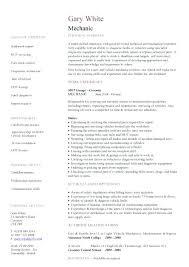 Sample Resume For Mechanic Best Resume Sample For Mechanical