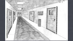 hallway vanishing point. after we finished drawing our road then started to draw a school hallway by using vanishing point drew the corridor of hall and r