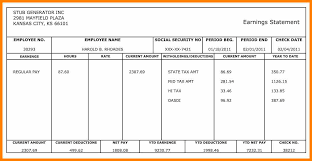 Free Paystub Templates 24 Pay Stub Template Free Pay Stub Format 12