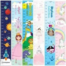 Personalised Height Chart Details About Childrens Personalised Height Charts Vinyl Wall Chart Boys Girls 8 Designs