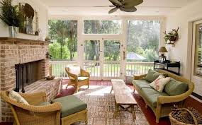 Wicker sunroom furniture Brown Wicker Wicker Sunroom Furniture With Bench And Side Chairs And Ottoman And Fireplace Stylish Sunroom Furniture The Lucky Design Wicker Sunroom Furniture With Bench And Side Chairs And Ottoman And