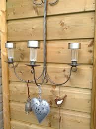 Oude Kandelaar Buiten Gehangen Met Solar Lampjes Action