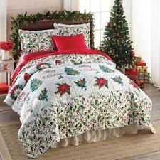 Holiday Quilts, Bedspreads and Coverlets | eBay & 3 PC Merry Christmas Holiday Red Green Quilt Set w/ Shams Full Queen Bedding Adamdwight.com