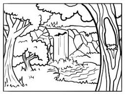 Small Picture Forest Coloring Pages Printable FunyColoring