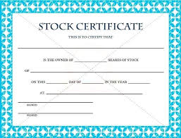 Certificate Template For Microsoft Word Free Stock Certificate