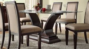 large size of rectangular glass dining table with wood base glass dining table set round glass