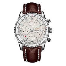 breitling navitimer world men s leather strap watch ernest jones