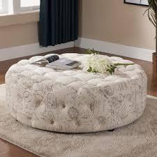 Large Round Ottoman Coffee TableFurniture Oversized Ottoman Coffee Table  For Stylish Living Room