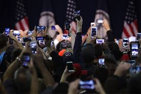 view of america essay do people drop out high school essay  covering politics in a post truth america institution donald trump supporters hold up their phone cameras