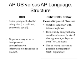 synthesis essay format essay writing contest online yearbook  ap us versus ap language structure