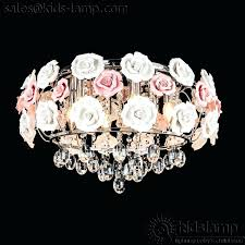 chandeliers flower pendant chandelier ceramic girls bedroom lamps possini euro design white