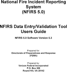 National Fire Incident Reporting System Nfirs 5 0 Nfirs