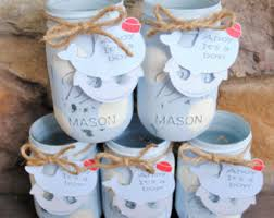 Decorating With Mason Jars For Baby Shower Baby Boy Shower Centerpieces Boy Baby Shower Mason Jars 39