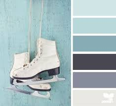 winter color palette with light blue, greyish blue and grey