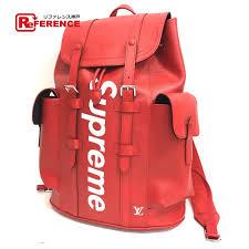authentic louis vuitton louis vuitton x supreme epi christopher pm backpack 17aw supreme louis vuitton christopher