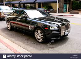 Black 2015 Rolls Royce Ghost vehicle in Beverly Hills California ...
