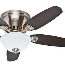 flush mount ceiling fan brushed nickel. Modren Mount Image Is Loading Hunter46LowProfileFlushMountCeilingFan And Flush Mount Ceiling Fan Brushed Nickel D