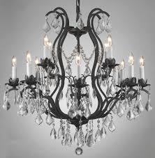 rustic crystal chandelier chandelier astounding wrought iron chandeliers rustic
