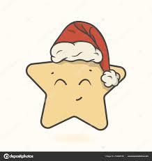 Weihnachtsstern Nikolausmütze Mit Pompon Vektorbild Isoliert