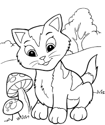 Small Picture Kittens Coloring Pages Cat Color Pages Printable Cat Kitten