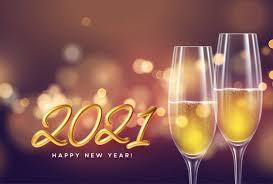 Neujahr silvester-party mit einem glas sekt | Kostenlose Vektor