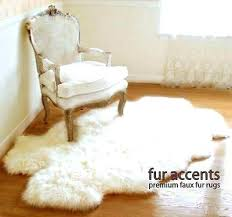 faux fur rug decoration awesome small sheepskin amazing tags in brown and white a dark pieced fur area rug golden brown wolf pelt premium faux from dark