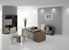 office paneling. Office:Charming Modern Office Room Interior Decor With Grey Wall Paneling Also Chair