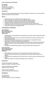 Sample Nurse Resume Labor And Delivery