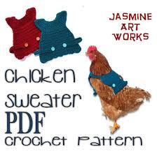 Chicken Sweater Pattern Stunning Chicken Sweater Crochet Pattern Jasmine Art Works