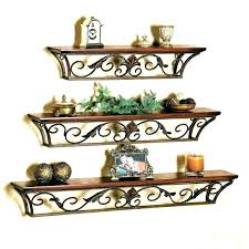 metal wall shelf brackets decorative floating shelves mounted hanging