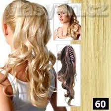 Příčesek Zvlněný Culík Na Klipse Nejsvětlejší Blond 60 Vlasy