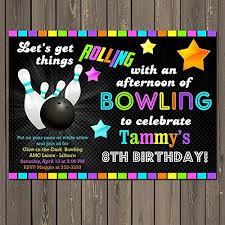 Party Invitations Bowling Party Invitations Mesmerizing
